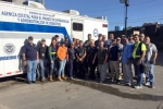NNSA's Carlos Montanez with a volunteer group in Puerto Rico